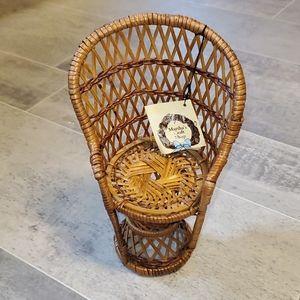 NWT Deadstock Mini Peacock Wicker Chair